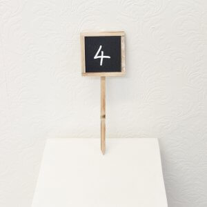 chalkboard table number square