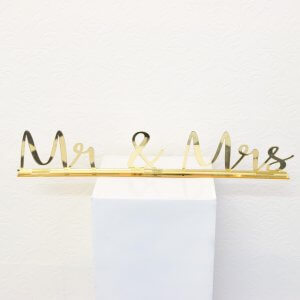 Gold Acrylic Mr & Mrs Sign