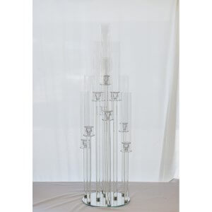 glass candelabra holder 10 head