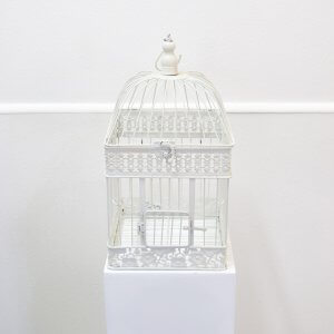 white square birdcage