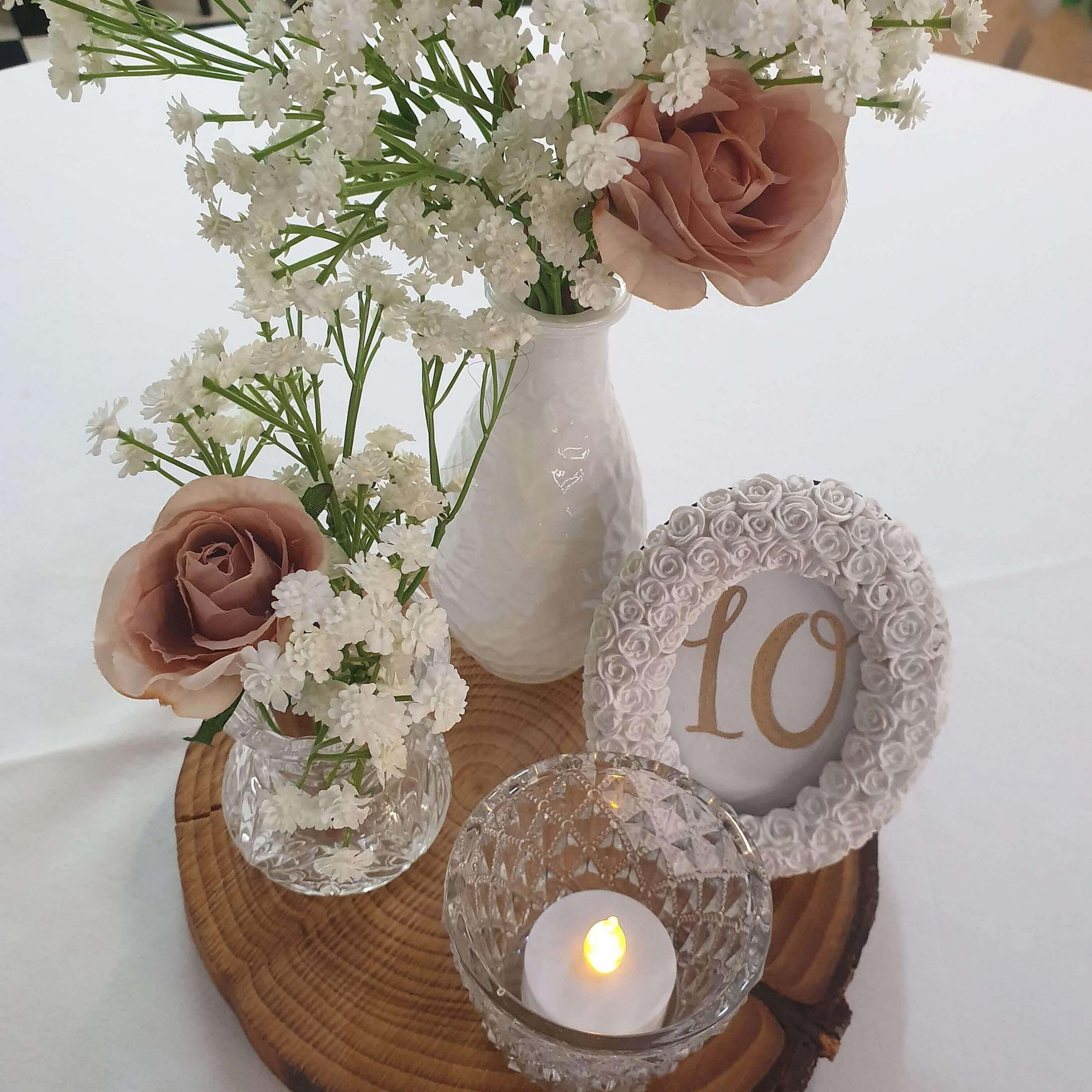 Rustic Wood Centrepiece package