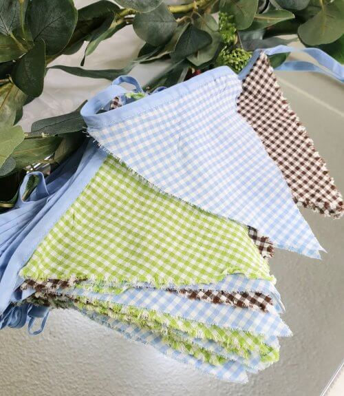 checked bunting 5m