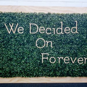 We decided on Forever Sign